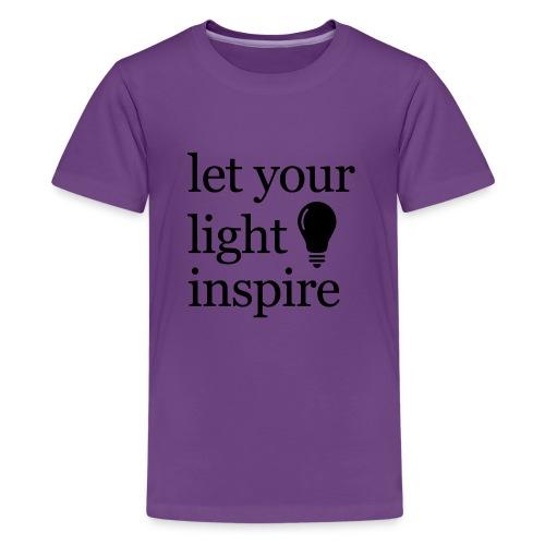 Let Your Light Inspire Sports Tank (black font) - Kids' Premium T-Shirt