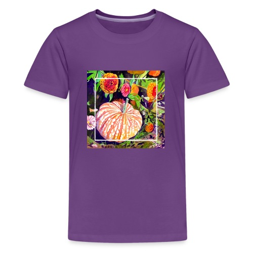 Pumpkin Watercolor - Kids' Premium T-Shirt