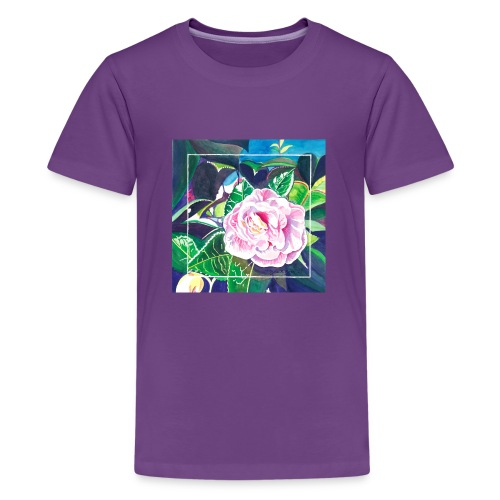 Camellia Watercolor - Kids' Premium T-Shirt