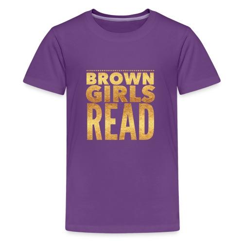 Brown Girls Read - Kids' Premium T-Shirt