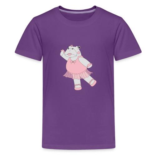 Ballerina Hippo - Kids' Premium T-Shirt