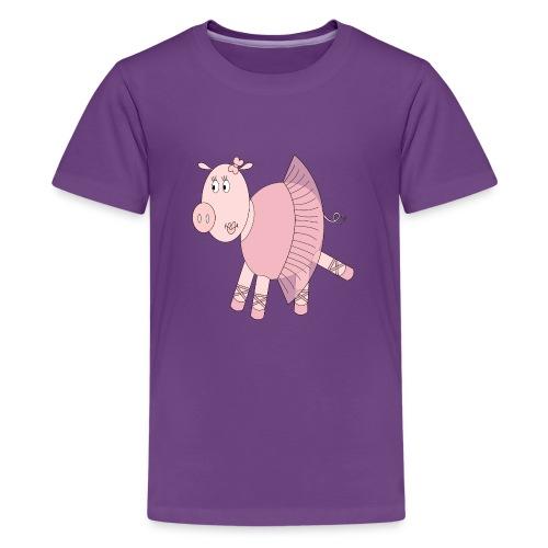 Ballerina Pig - Kids' Premium T-Shirt