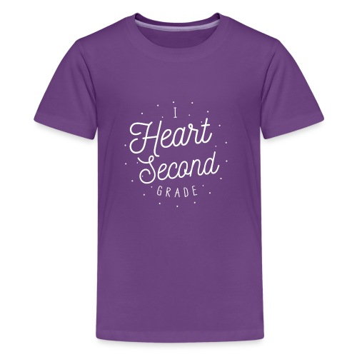 I Heart Second Grade Design for Teachers - Kids' Premium T-Shirt