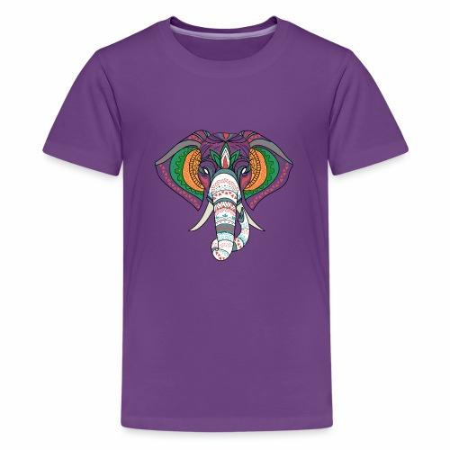 H&F Market high beautiful coloured elephant design - Kids' Premium T-Shirt