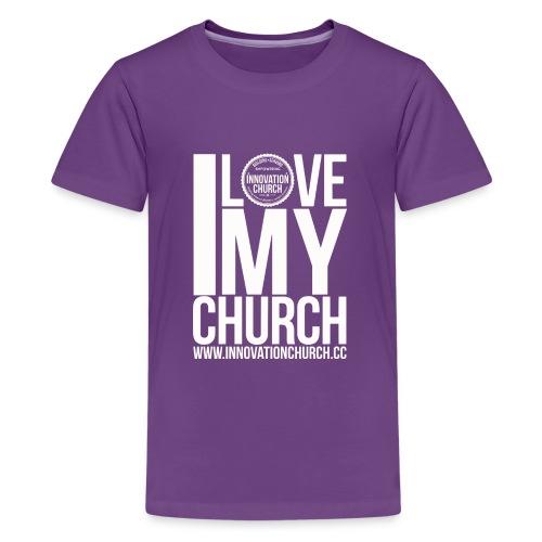 i_love_my_church_White_ - Kids' Premium T-Shirt