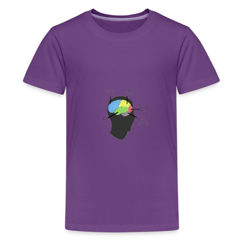 Corbin YT brain diagram - Kids' Premium T-Shirt
