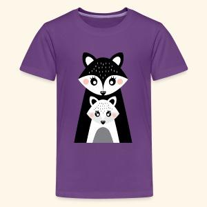 Mama and little fox - Kids' Premium T-Shirt
