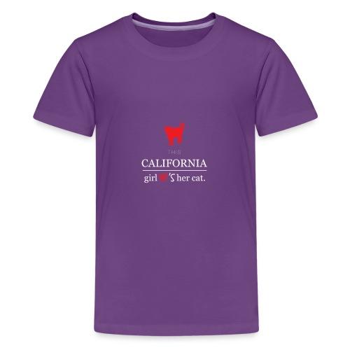 This girl love her cat T-Shirt - Kids' Premium T-Shirt