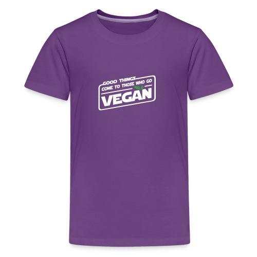 Good things come to those who go vegan - Kids' Premium T-Shirt