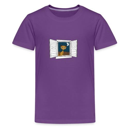 Kitten in the window - Kids' Premium T-Shirt