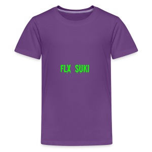 Gooey Lime Green FLX SUKI Logo - Kids' Premium T-Shirt