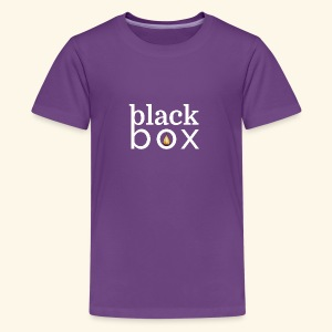 Black Box Logo Gold Drop White Text - Kids' Premium T-Shirt