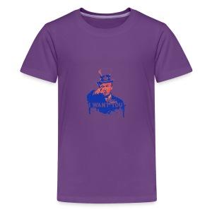 Donald Trump as Uncle Sam - Kids' Premium T-Shirt