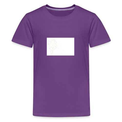 Lion Outlined image for shirt - Kids' Premium T-Shirt