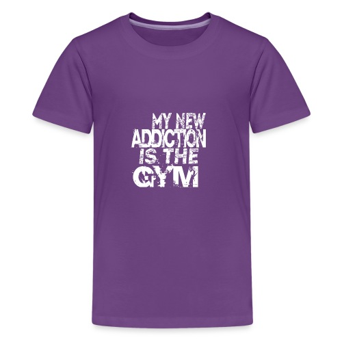 MY NEW ADDICTION IS THE GYM MEN - Kids' Premium T-Shirt