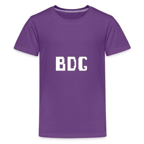 BDG 8-Bit Design White - Kids' Premium T-Shirt