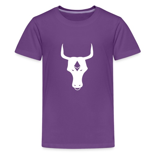ether bull white - Kids' Premium T-Shirt
