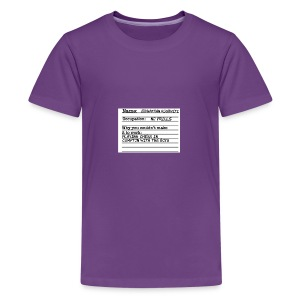 Jonathan Roshwitz Occupation - Kids' Premium T-Shirt