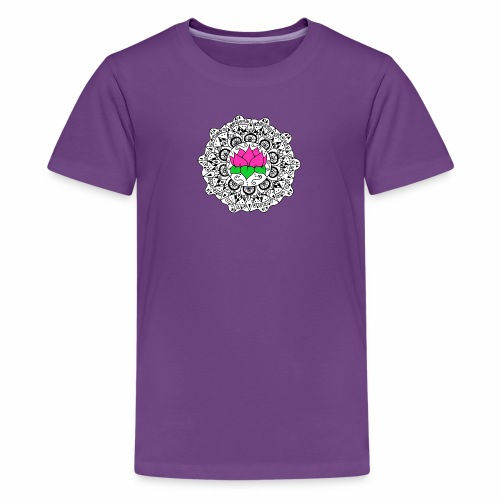 Lotus Flower Mandala - Kids' Premium T-Shirt
