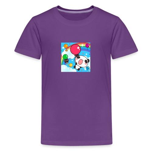 Rainbow with a panda - Kids' Premium T-Shirt