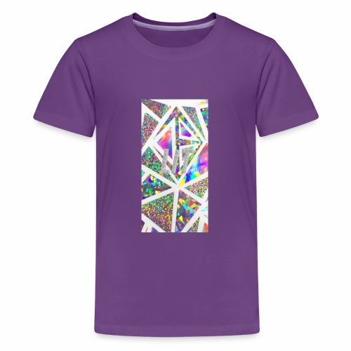 Holographic 'Lit' Design - Kids' Premium T-Shirt