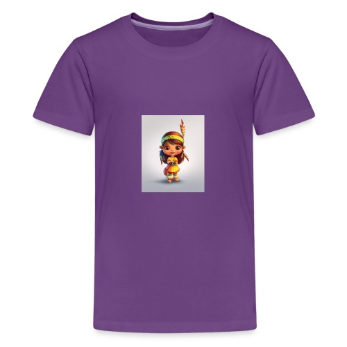 indian girl shirt - Kids' Premium T-Shirt