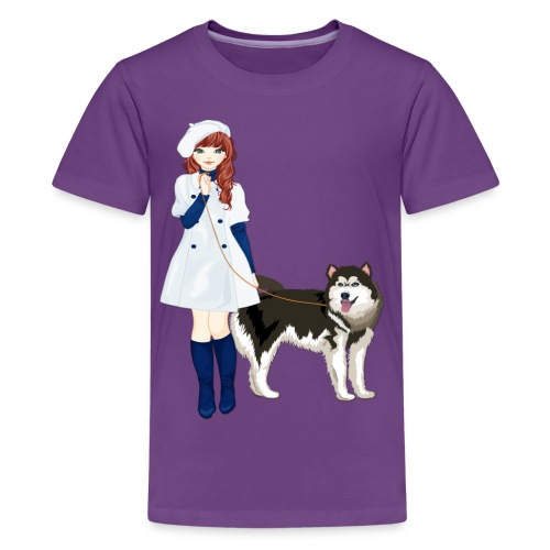 i love my husky - Kids' Premium T-Shirt