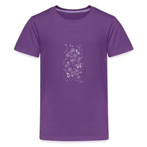 Floral and Butterflys_white - Kids' Premium T-Shirt