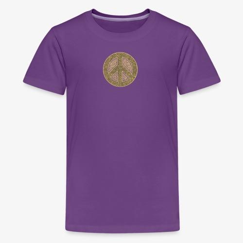 Peace Symbol Khaki - Kids' Premium T-Shirt