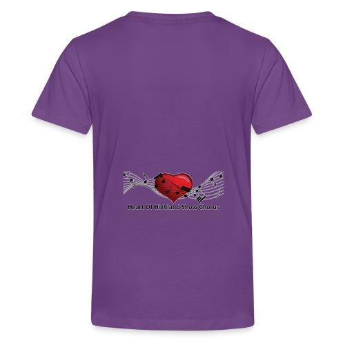Lg transparent logo on back HOH Show Chorus - Kids' Premium T-Shirt