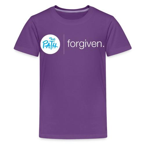 The Path Forgiven Logo In White - Kids' Premium T-Shirt