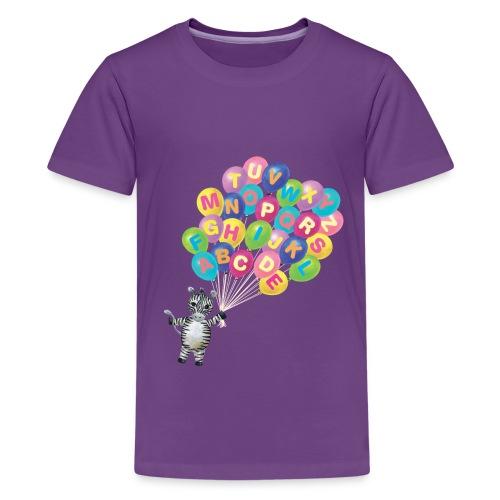 Balloons Zebra - Kids' Premium T-Shirt