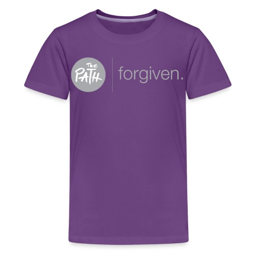 The Path Forgiven Logo In Grey - Kids' Premium T-Shirt