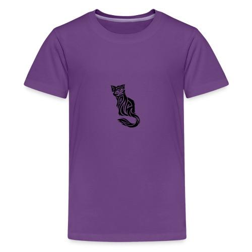 elegant-cat-with-bird-tattoo-design-5 - Kids' Premium T-Shirt