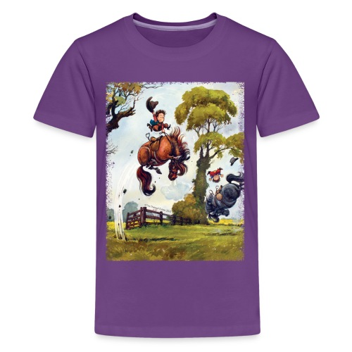 PonyRodeo Thelwell Cartoon - Kids' Premium T-Shirt