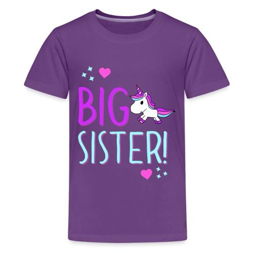 Big Sister Unicorn Design! - Kids' Premium T-Shirt