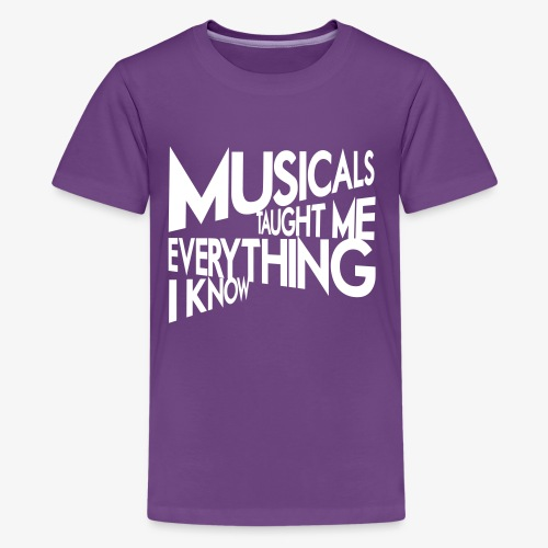 MTMEIK White Logo - Kids' Premium T-Shirt
