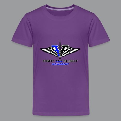 Fight or Flight Academy Logo - Kids' Premium T-Shirt