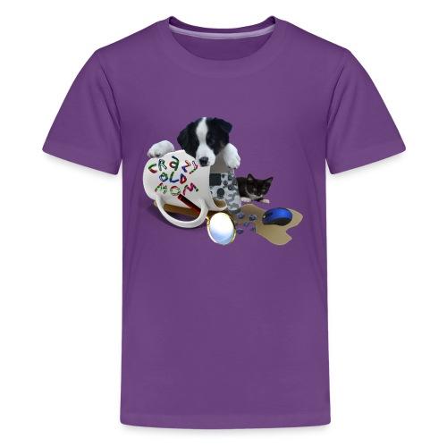 CrazyOldMom Twitch Logo - Kids' Premium T-Shirt