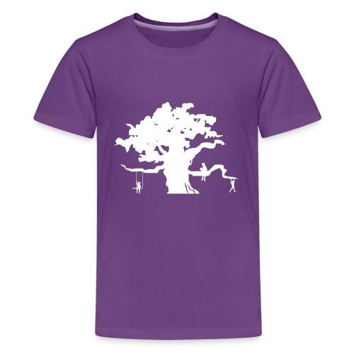 Oak Tree with children playing - Kids' Premium T-Shirt