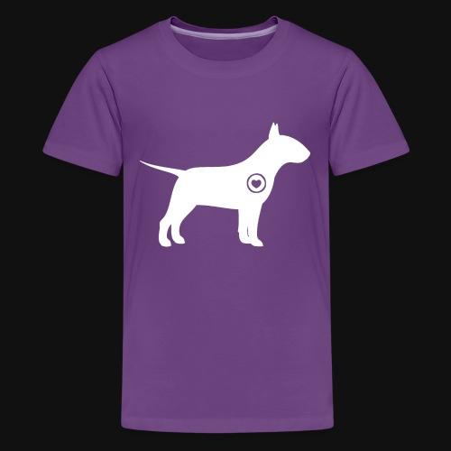 Bull Terrier love - Kids' Premium T-Shirt