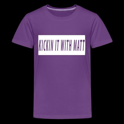 White Design - Kids' Premium T-Shirt