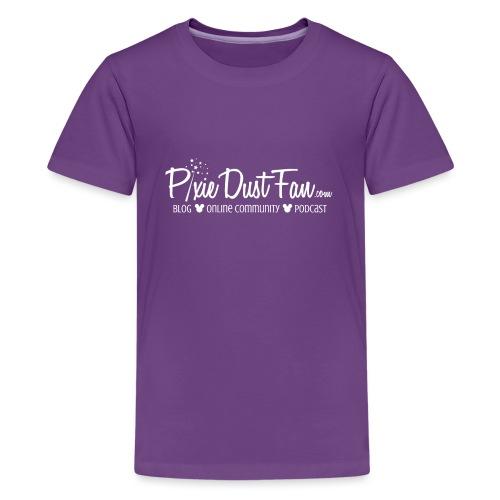 Pixie Dust Fan Logo White - Kids' Premium T-Shirt