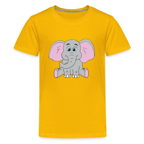 Cute Baby Elephant - Kids' Premium T-Shirt