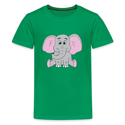 Cute Baby Elephant - Kids' Premium T-Shirt