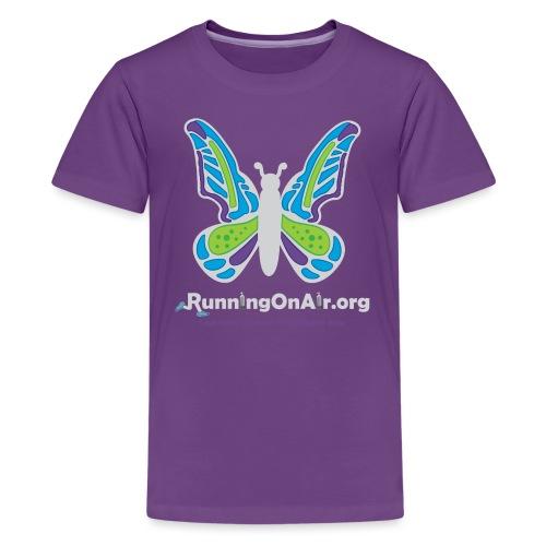 Running On Air logo for dark colored shirts - Kids' Premium T-Shirt