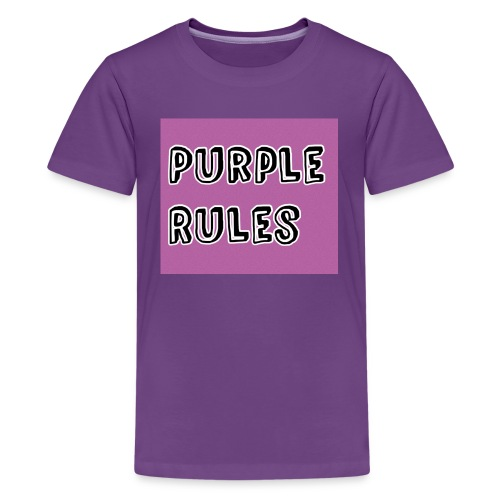 Girls Purple Rules Shirt - Kids' Premium T-Shirt