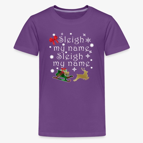 Top Funny Christmas Pun sleigh My Name Gift Design - Kids' Premium T-Shirt