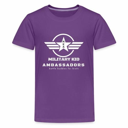 Military Kid Ambassador White - Kids' Premium T-Shirt