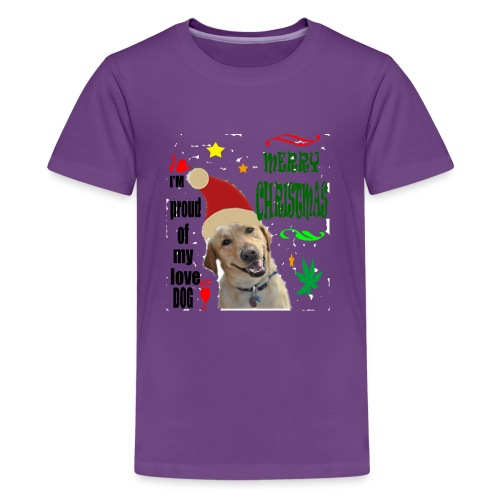 christmas with your dog - Kids' Premium T-Shirt